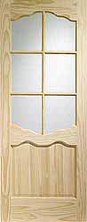Internal Clear Glazed Riviera Clear Pine
