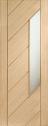 Oak Monza Door With Obscure Glass