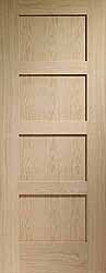 Prefinished Oak Internal Shaker 4 Panel