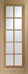 Glazed Int Oak Whitechapel With Bevelled Glass