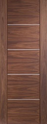 Internal Walnut Prefinished Portici Fire Door