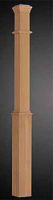 Oak 91mm Box Newel - Plain Face x 1500mm