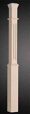 White Primed 91mm Box Newel - Rebated Panel x 1500mm