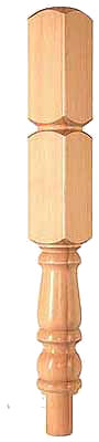 Hemlock 91mm Newel Turning 430mm