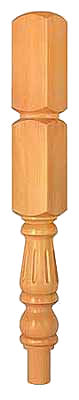 Pine 91mm  Fluted 430 Newel Turning PEFC