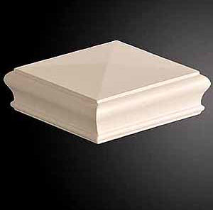 White Primed Flat Newel Cap 125 x 125 x 47