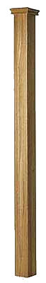 Oak 91mm Patrice Newel x 1500mm Excluding Cap