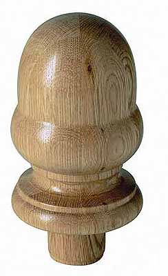Warwick 115mm Oak Newel Acorn cap